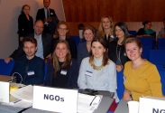 Some Research Associates even go to events abroad. This is from the ICC's Assembly of States Parties in the Hague.