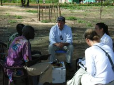 Lawyering Peace Research Associates support work around the world. Here, Professor Williams is gathering statements for the Abyei Arbitration.