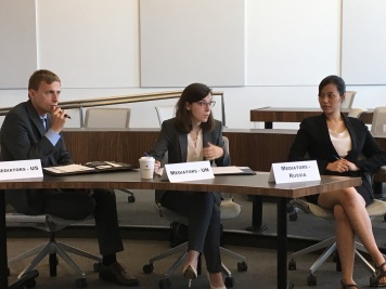 Russia, US, and UN, were represented during the negotiation simulation as mediators.